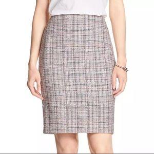 BR pink tweed skirt